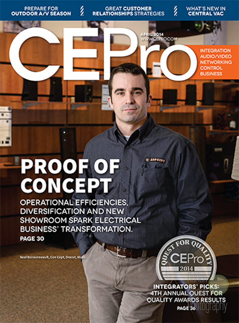 Neal, from Concept in Dracut was my cover shot for  CEPro  in April 2014.