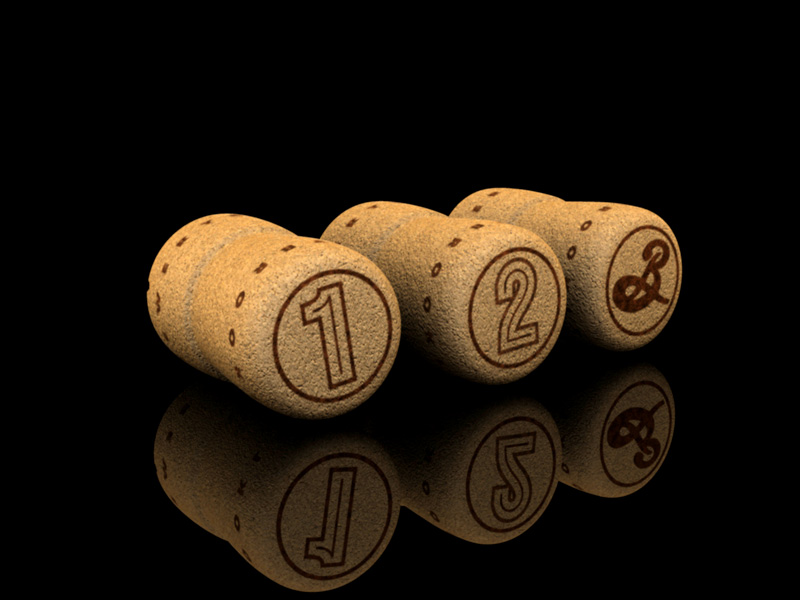 Corks for Brooklyn Local 1, 2, and specialty beers.