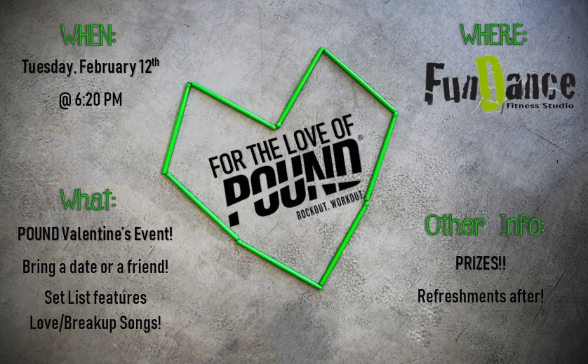 FOR THE L❤VE OF POUND! — Fun Dance Fitness Studio