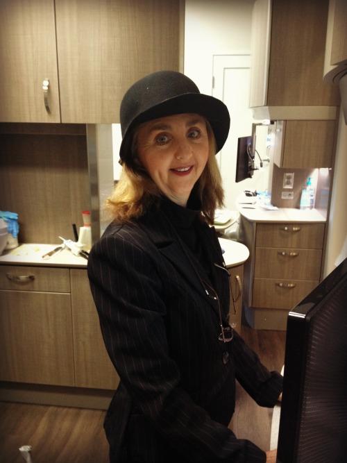 Diane Keaton assisting me