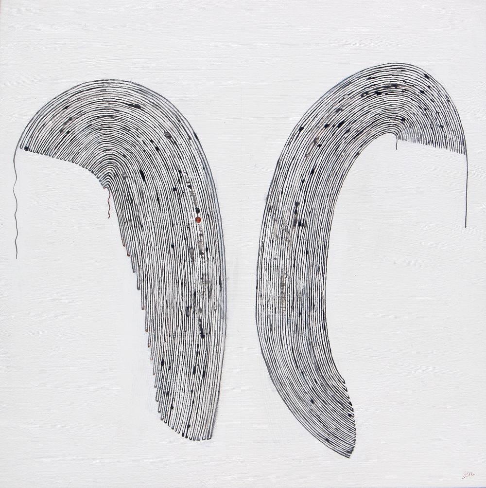 Duet , acrylic on panel, 16x16
