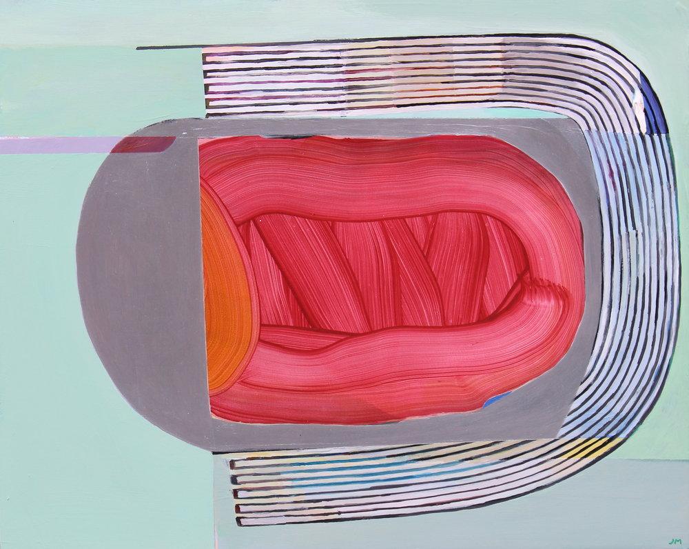 Soft Underbelly , Acrylic on panel, 16x20