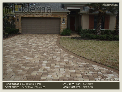 Sand Dune Driveway with Tan Border.