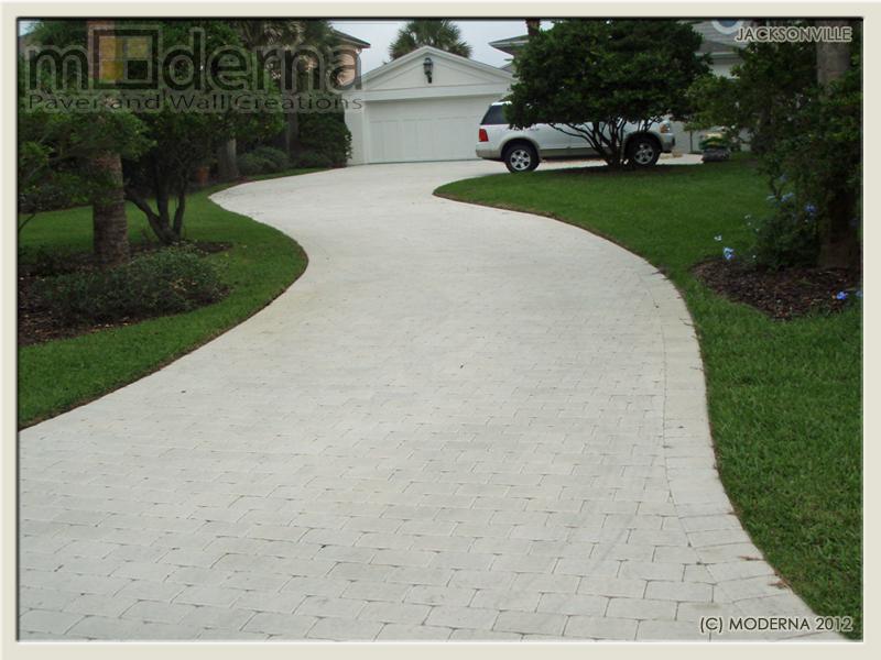 A White Paver Driveway? — Jacksonville Paver Portfolio - Moderna Pavers