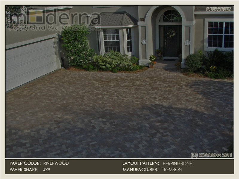 Riverwood paver driveway construction in Jacksonville Fl by Moderna.