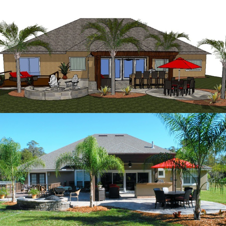 Here is the conceptual design from Creative Design Space and the finished product.