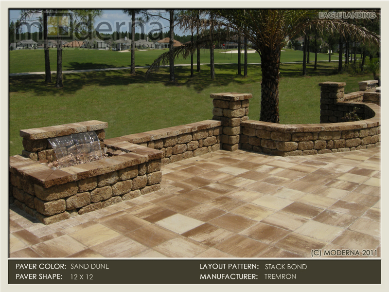 Paver Patio In Jacksonville FL. Square 18 X 18 Plaza Pavers With A 4 X