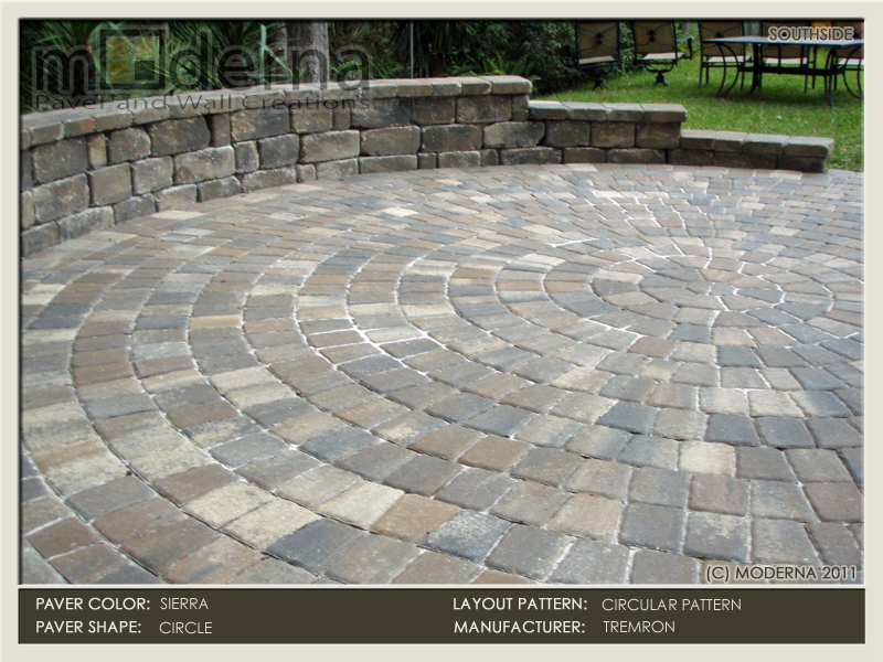 This Jacksonville Pavers Patio Is Constructed In A Circle Using A Circular  Paver Pattern. 3