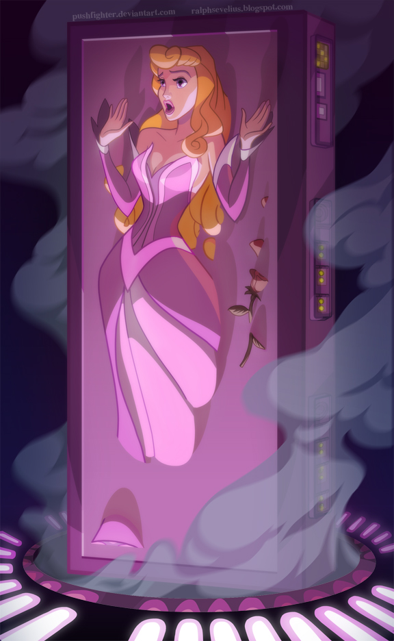 (via Carbonite frozen Aurora by pushfighter on deviantART)