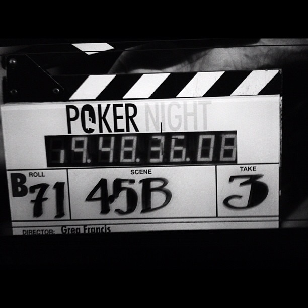 mrgregfrancis: Day 15 #pokernightmovie Who is taking the time to write such pretty numbers?