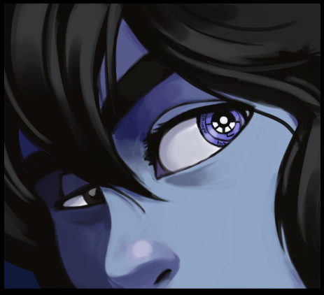 Dark Science 12 Preview: Close-up of Kim's Eye