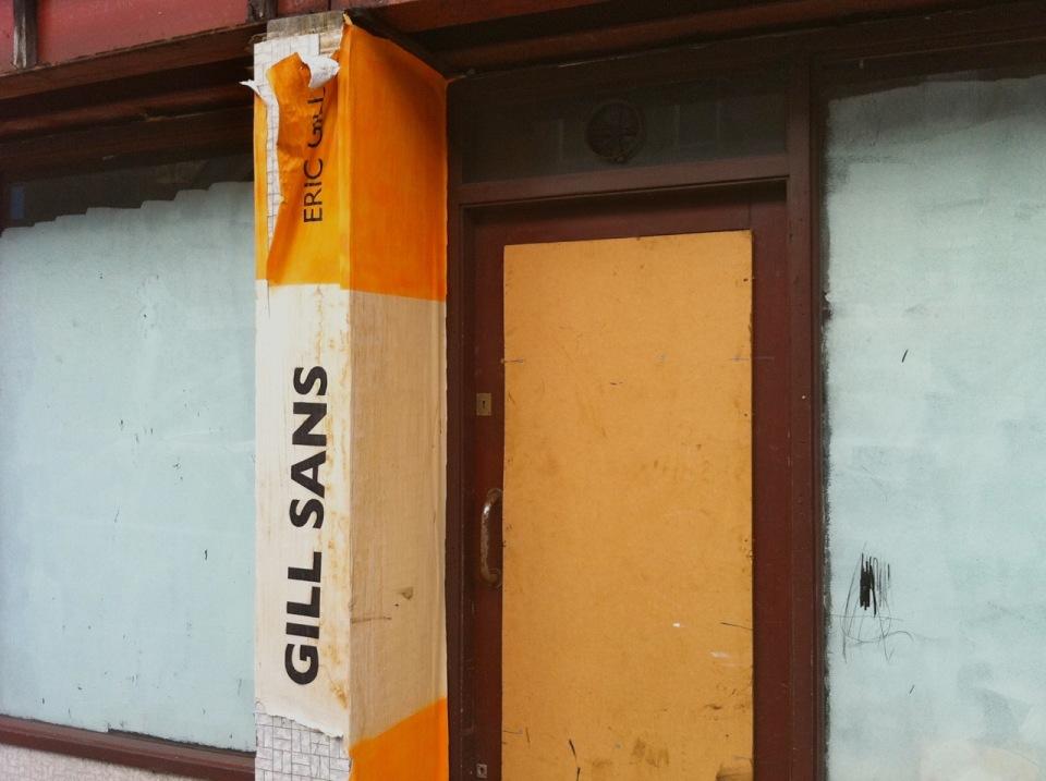 Gill Sans Doorway