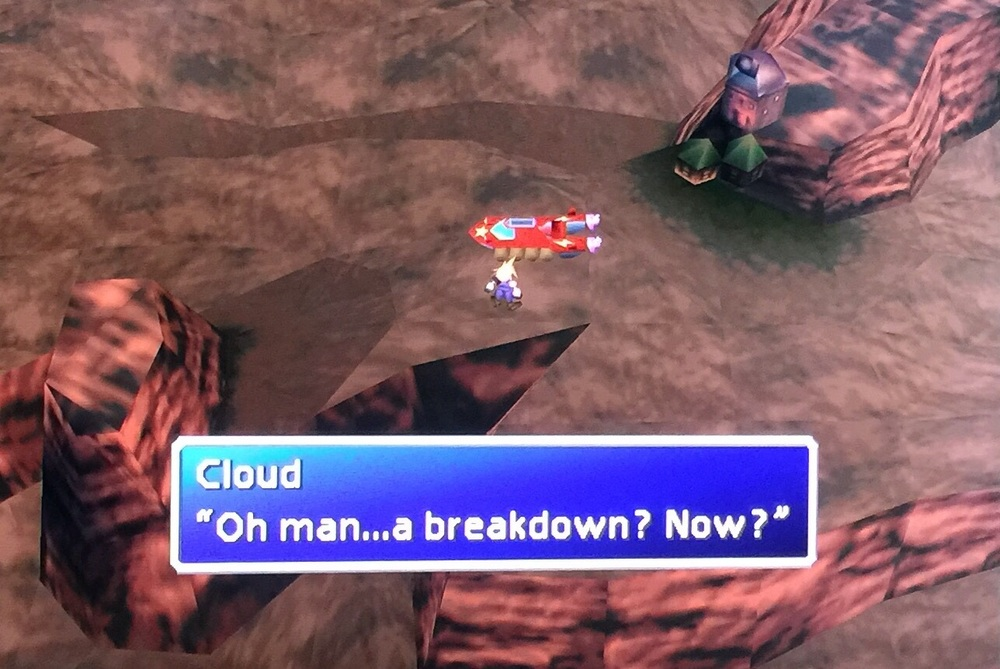 Final Fantasy VII (1997). Near Cosmo Canyon.