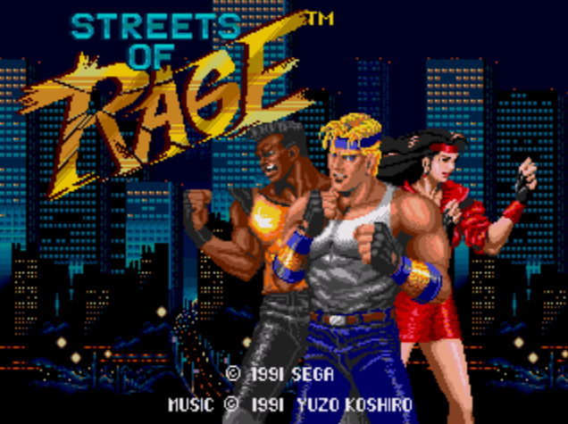 Streets of Rage, Sega Megadrive Title Screen