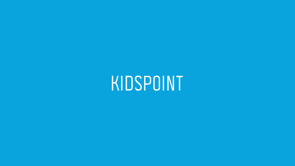 KIDSPOINT - Led by Ashley Anderson We believe that children from ages 6 weeks to 5th grade can discover and develop a passion for God in their Sunday morning experience. Since we love our kids and value their safety, to serve on this team requires a background check.