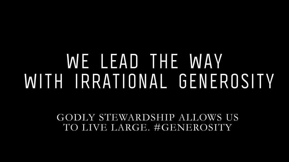 GODLY STEWARDSHIP ALLOWS US TO LIVE LARGE.    #GENEROSITY