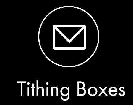 You can give in person during one of our Sunday Experiences. Tithe/Offering Boxes are located on the back wall of the auditurium walls.