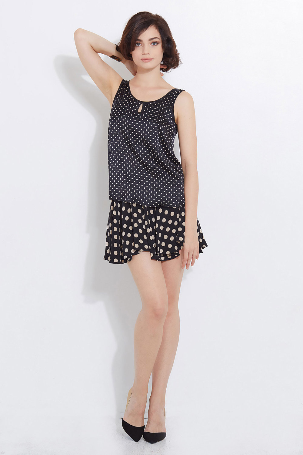 Raquelle Moon Tank Black Cream Polka Dot Darling 5.jpg