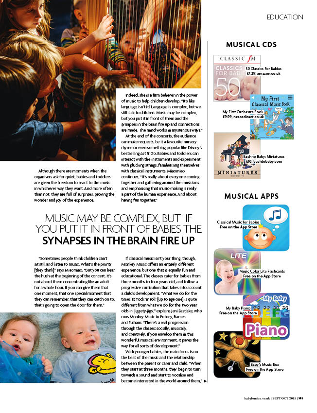Bach to Baby feature in Baby London magazine 2