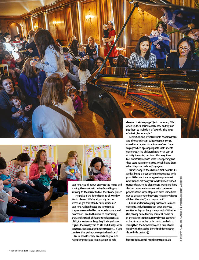 Bach to Baby feature in Baby London magazine 3