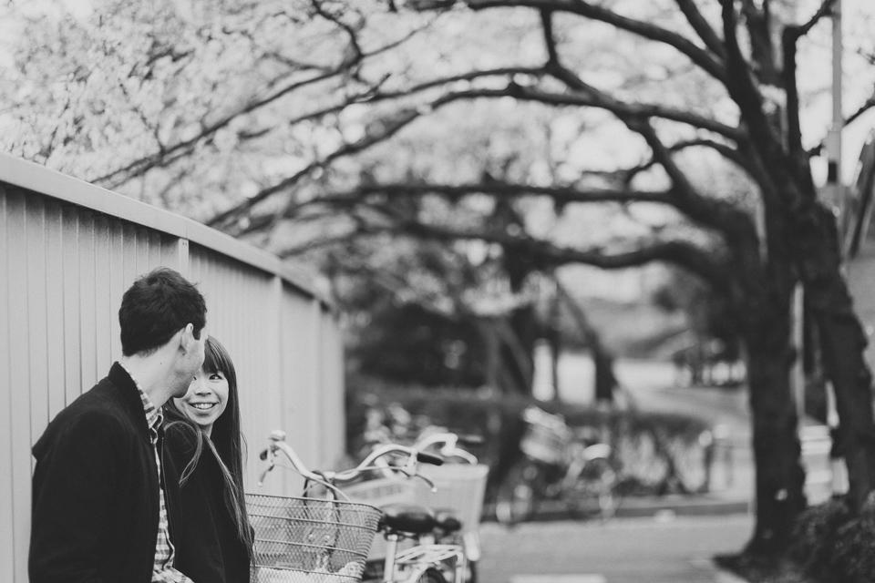 Sakura Cherry Blossom Engagement Photos in Tokyo