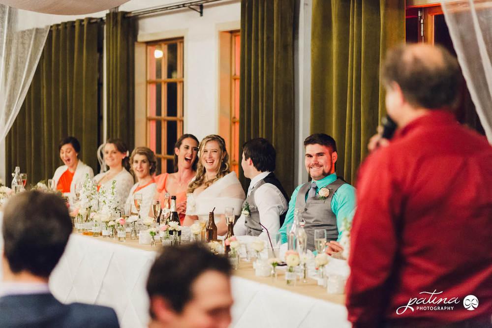 Reception at foxglove queens wharf ballroom