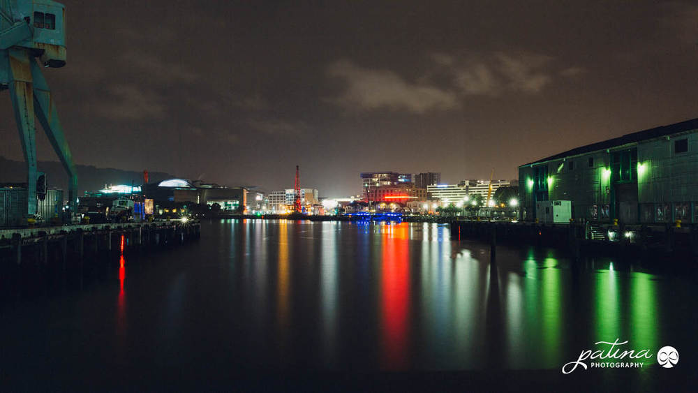 Wellington waterfront night shot