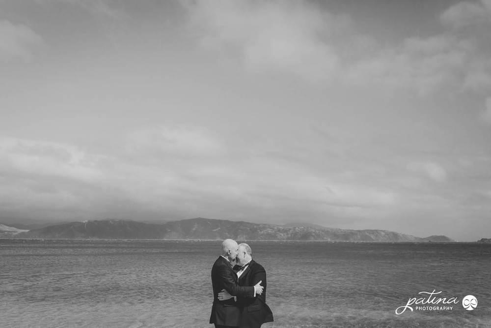 Scorching Bay, Seatoun wedding photography
