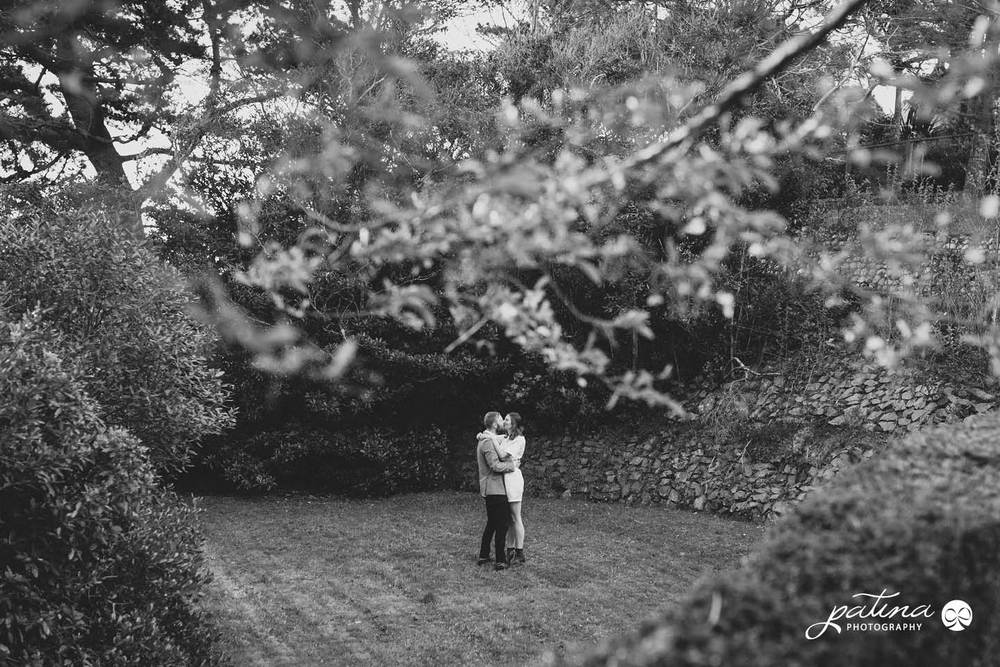 Secret garden inspired engagement photographs