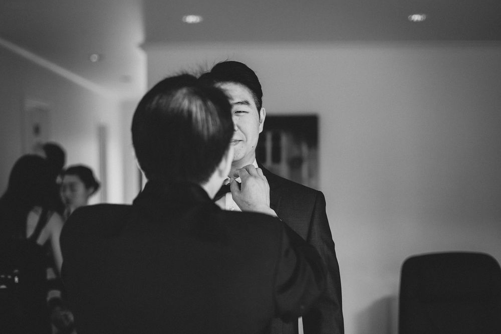 Korean Family Wedding Groom Getting Ready