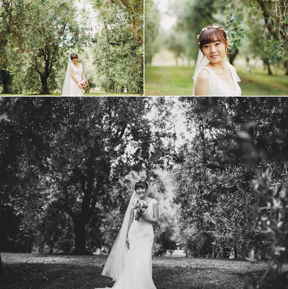 Natural Korean Bride in Olive Grove Auckland