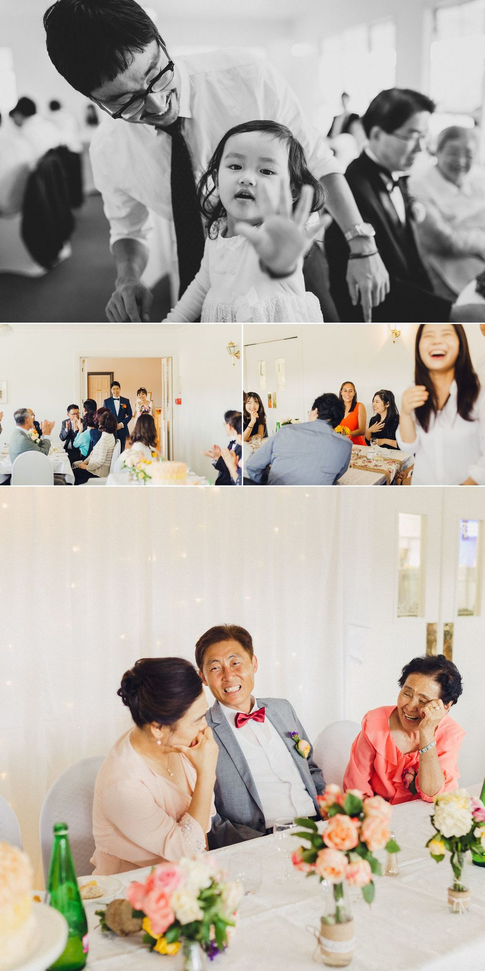 Candid Wedding Photography of Guests Laughing