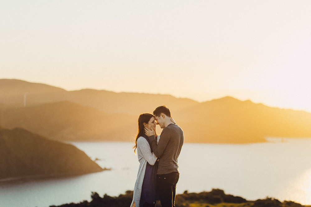Makara engagement shoot at sunset