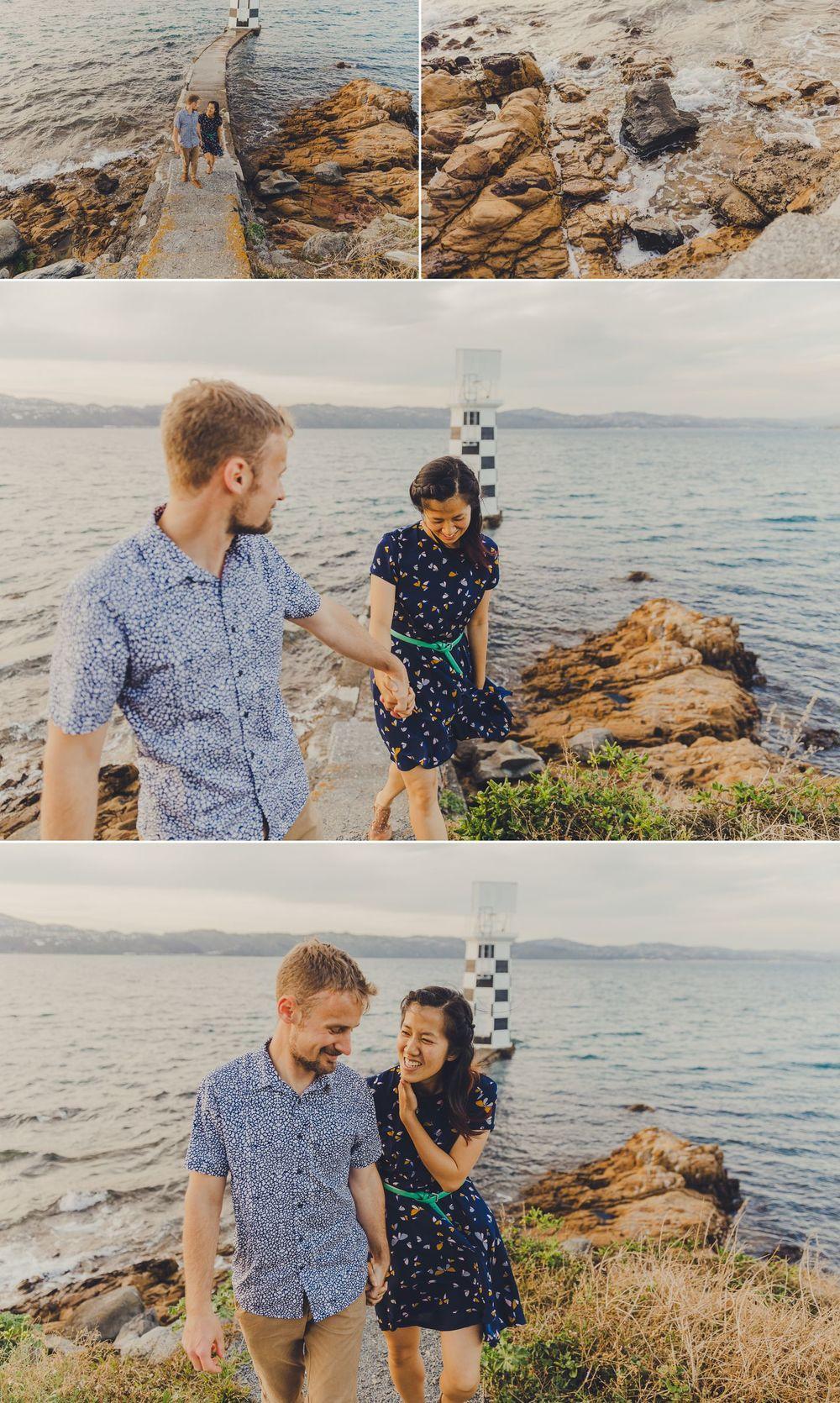 Magic hour engagement photos