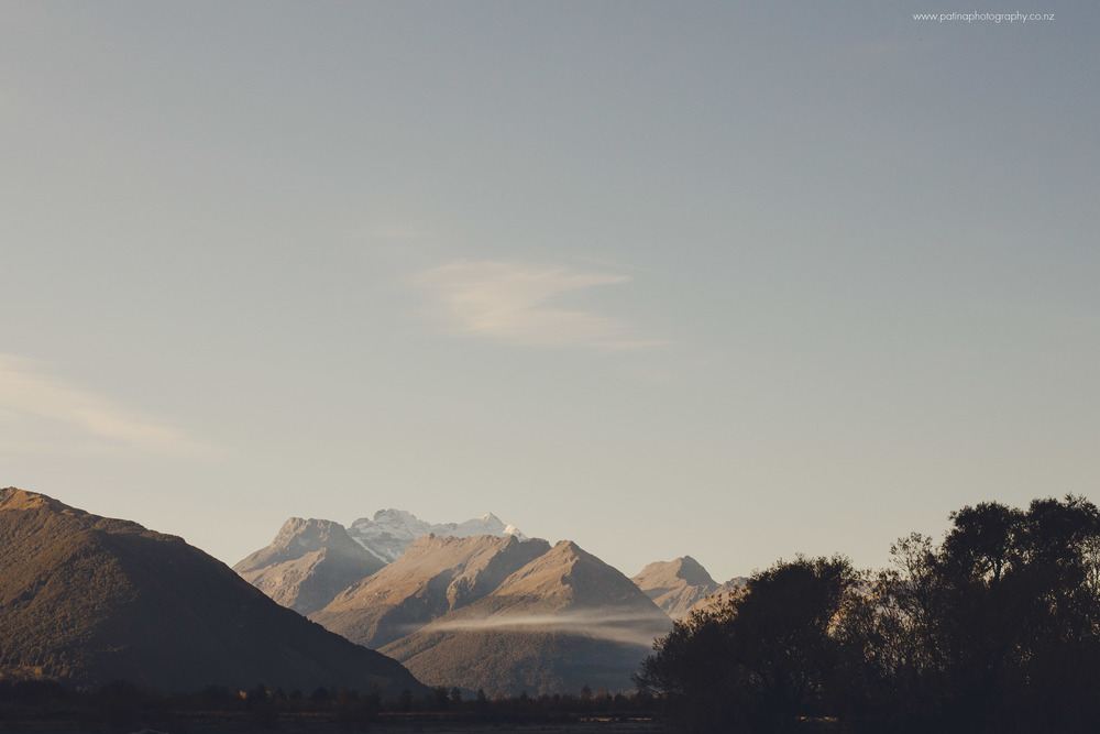 New Zealand Southern Alps as viewed from Glenorchy