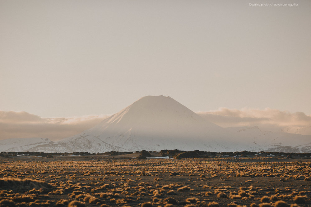 Mt Ngauruhoe and the central plateau at Sunset