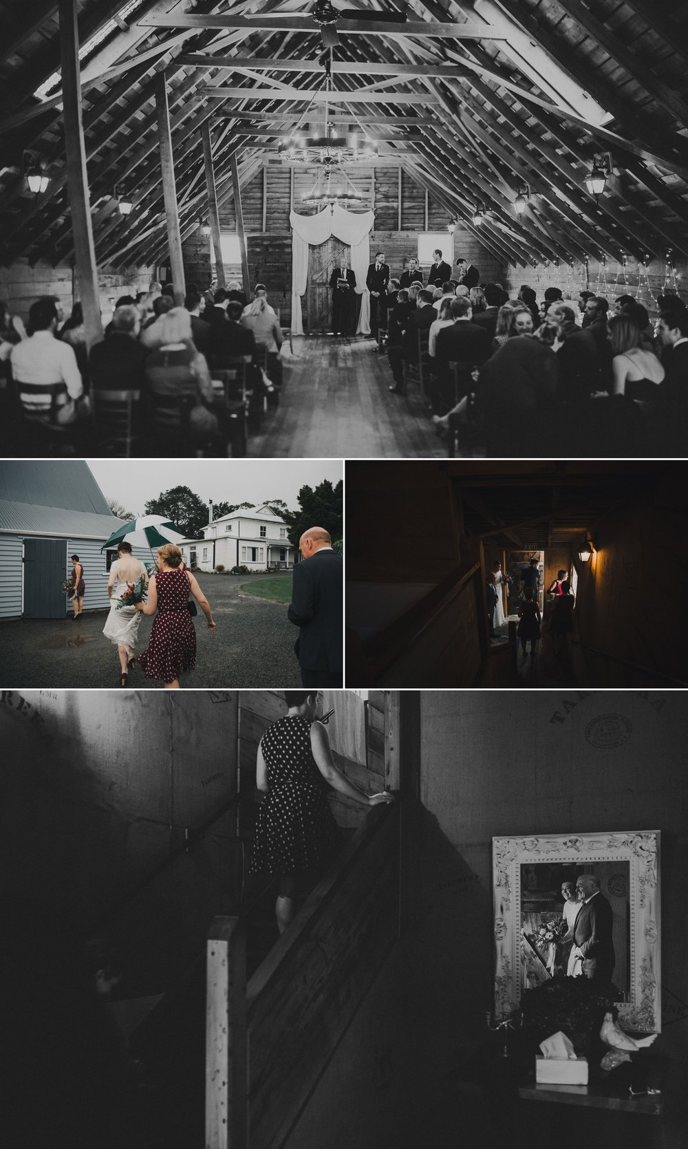 Featherston Wedding in the Rain