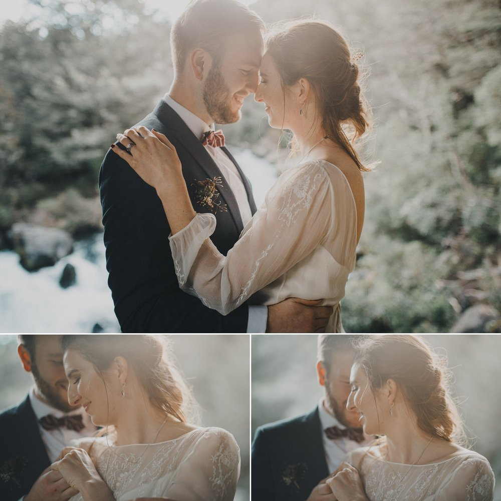 New Zealand alpine mountain elopement