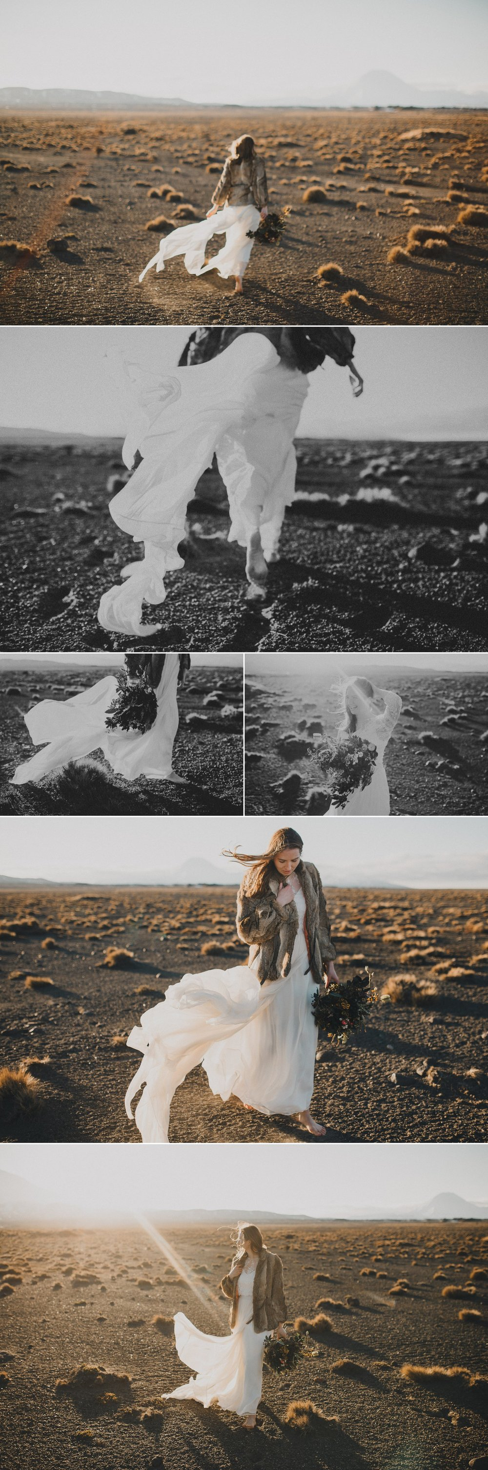 Wild adventureous wedding photos volcanic central plateau