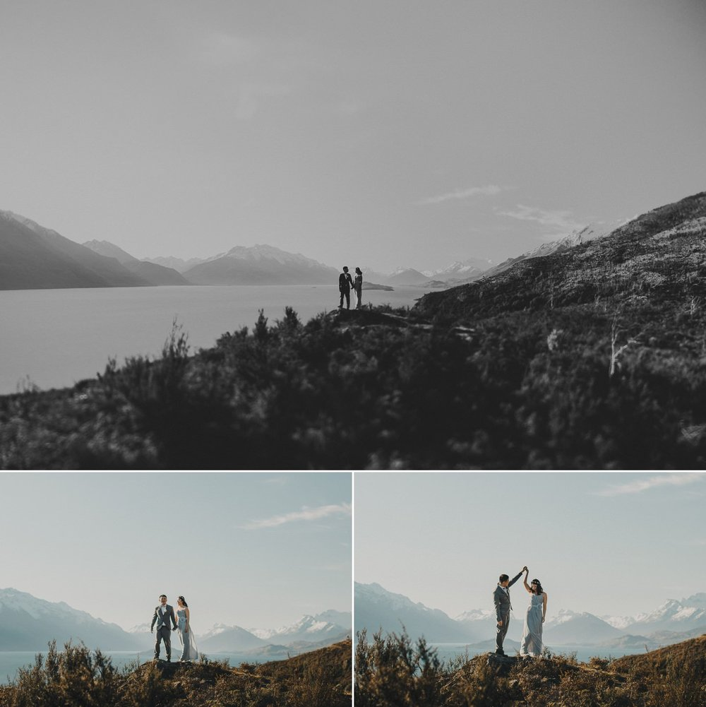 Wedding photography above Lake Wakatipu