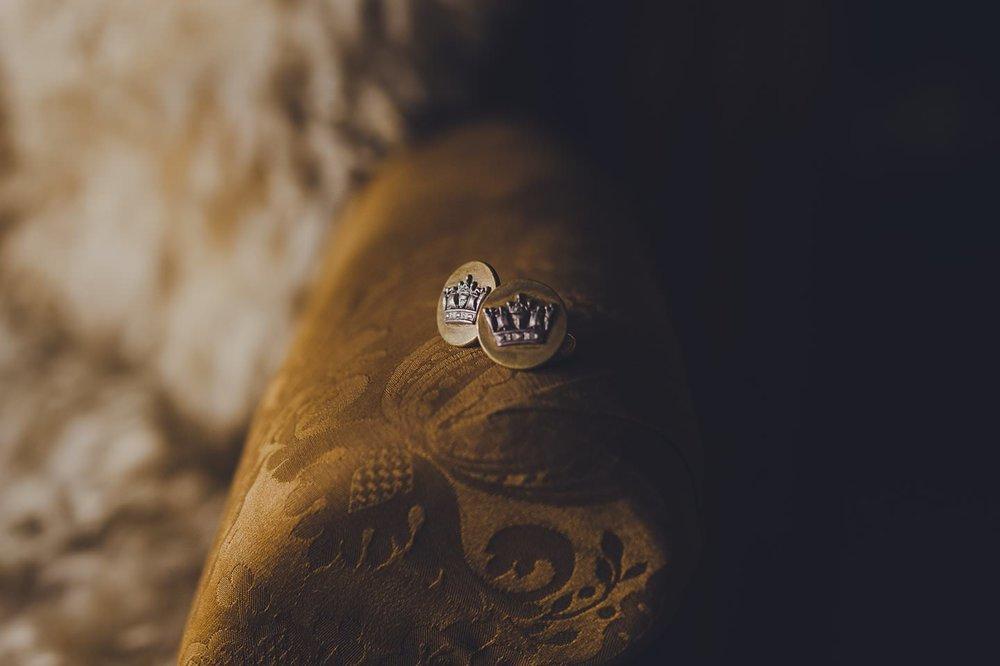 New Zealand Wedding photographer grooms cufflinks