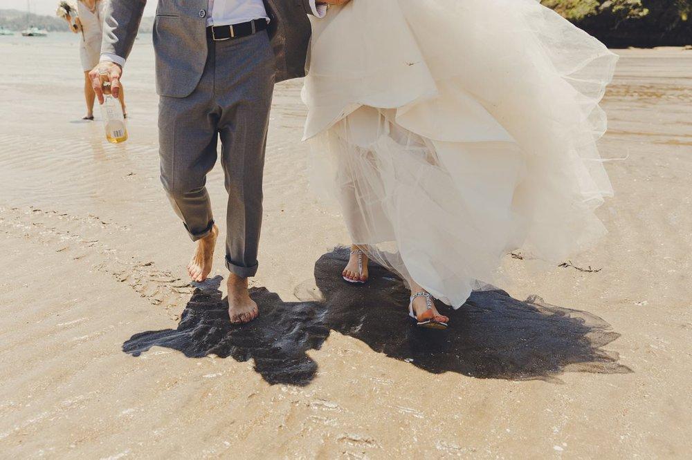 Laid back New Zealand Beach wedding