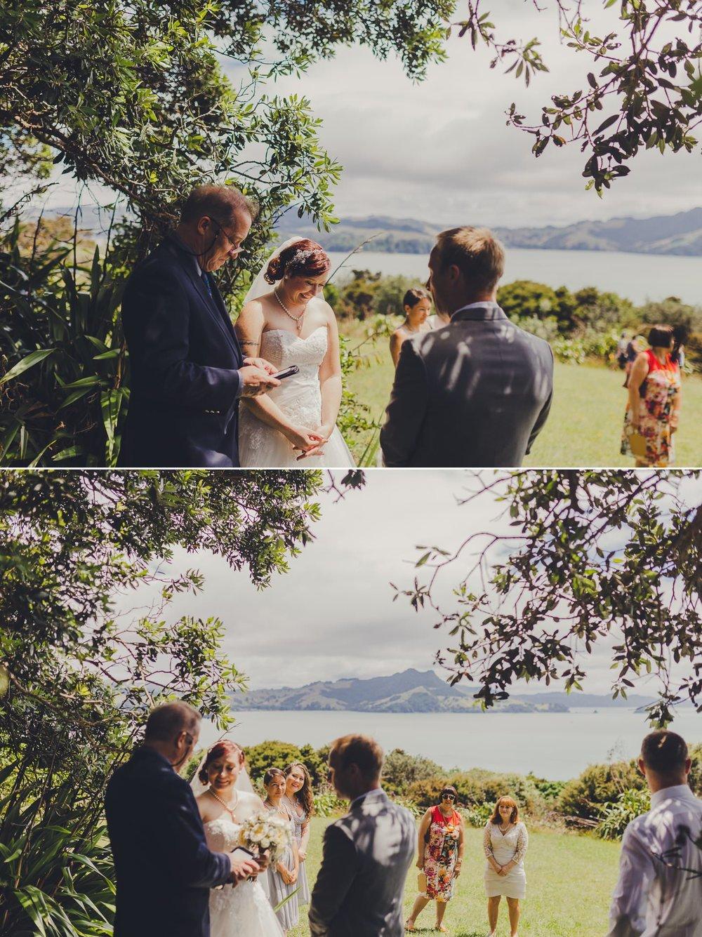 Wedding at Shakespeare cliff Coromandel