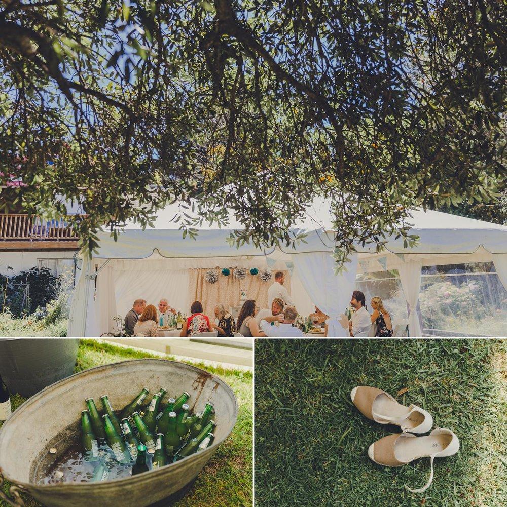 Summer relaxed Coromandel wedding