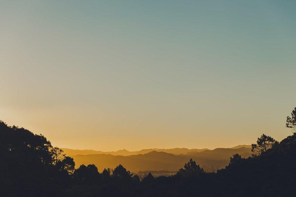 Sunset over Flaxmill Bay Coromandel