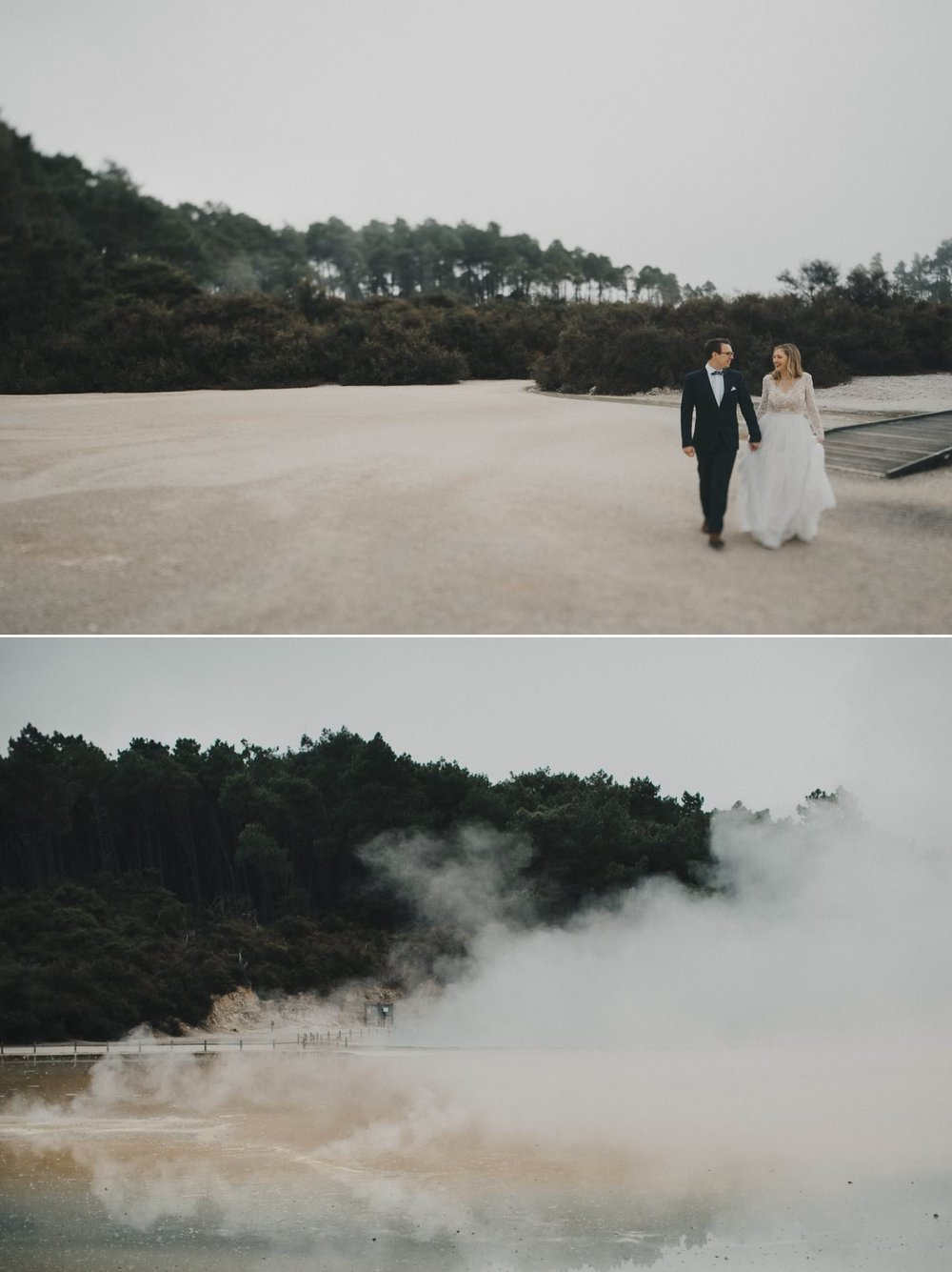 Couple photos taken at Champange Pools Rotorua