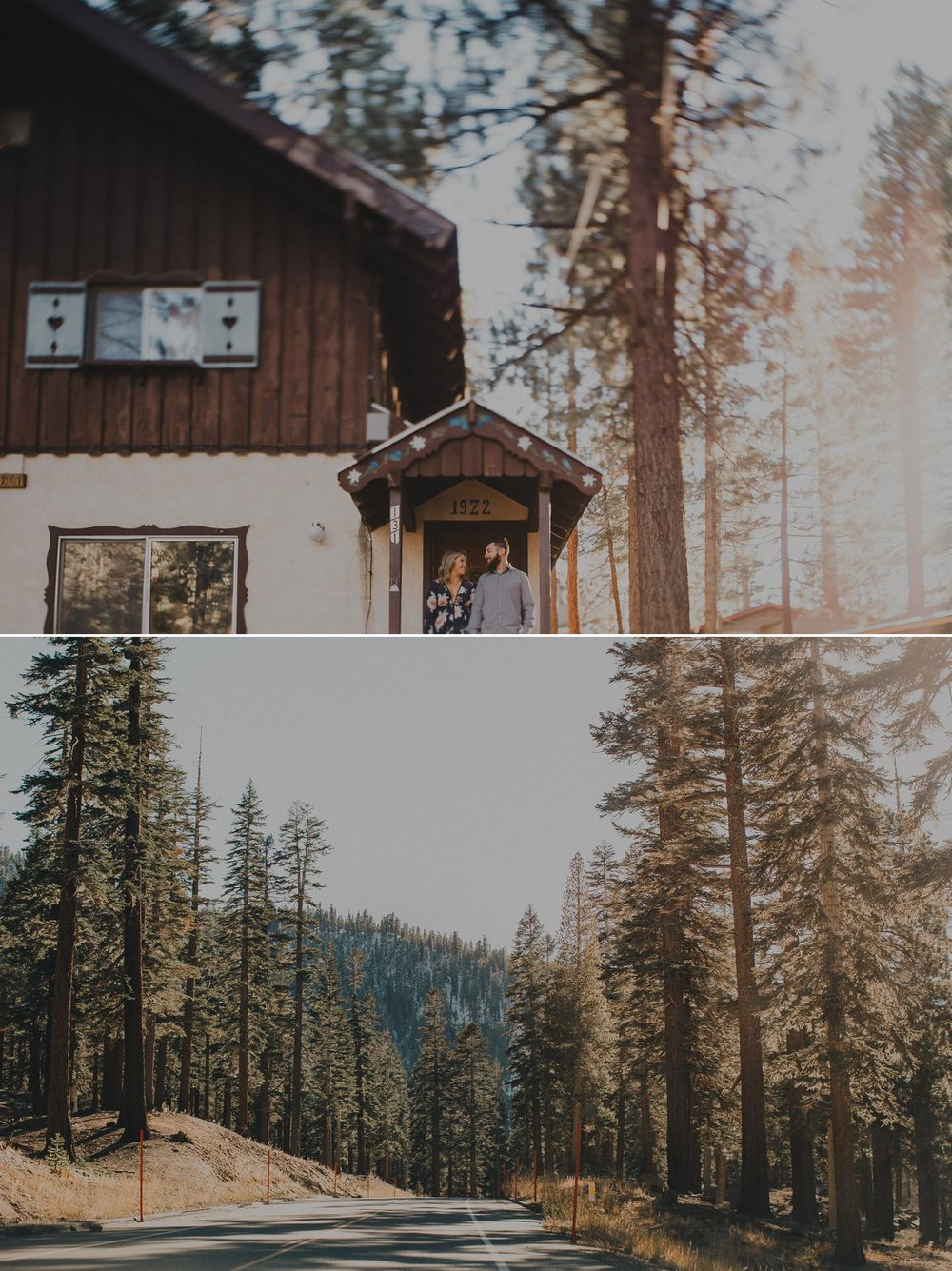 Engagement shoot in Mammoth Lakes, California