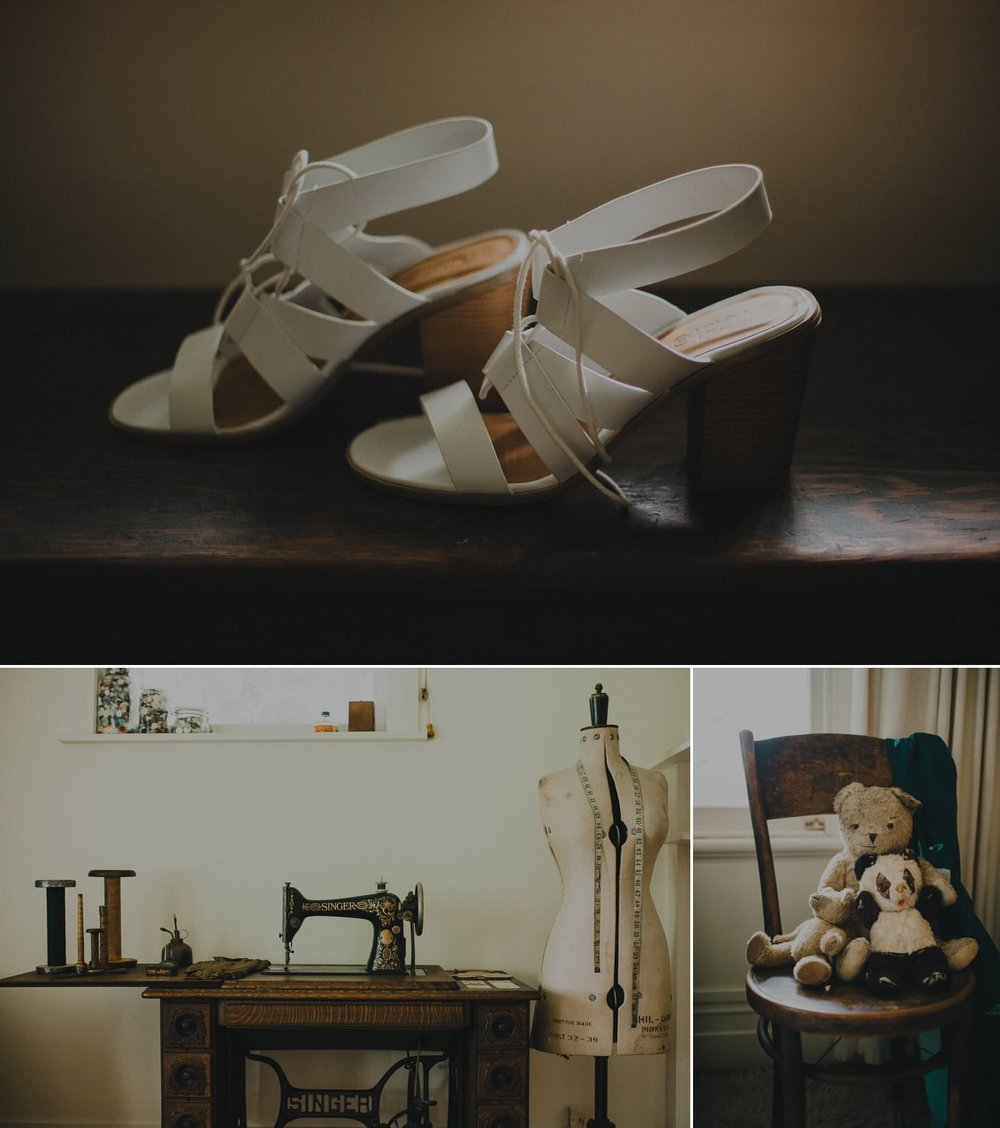 Vintage cottage and bridal shoes