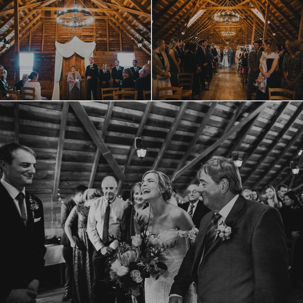 Tarureka Estate wedding ceremony inside