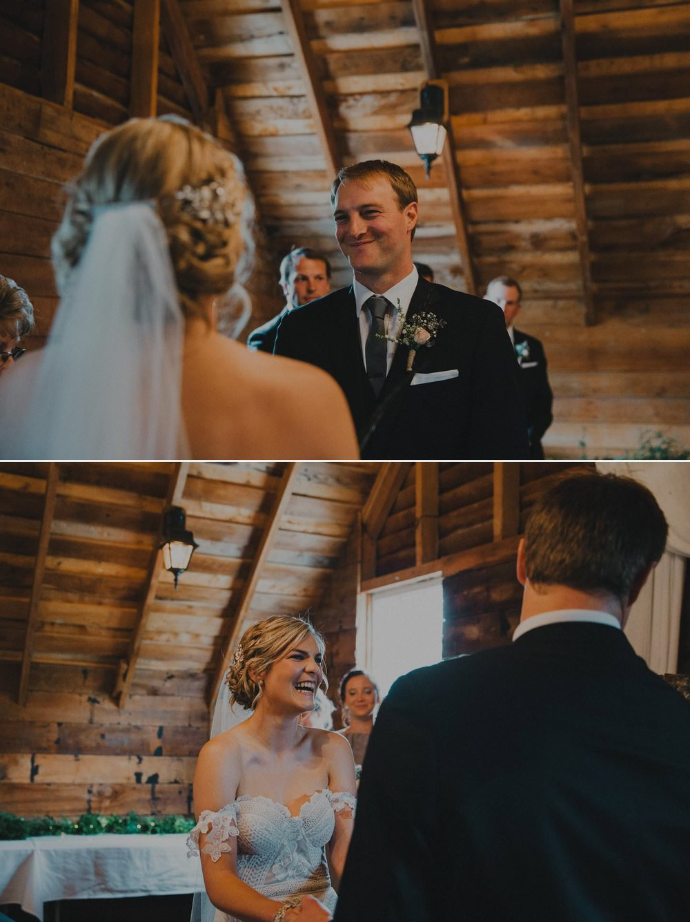 Bride and groom during their vows to each other